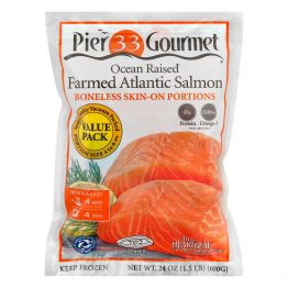 Atlantic Salmon 24oz (Value Pack - SKIN ON)