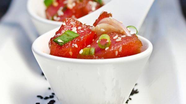 Frozen Hawaiian Tuna Poke Cubes
